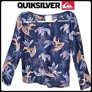 Quiksilver sheer floral blouse